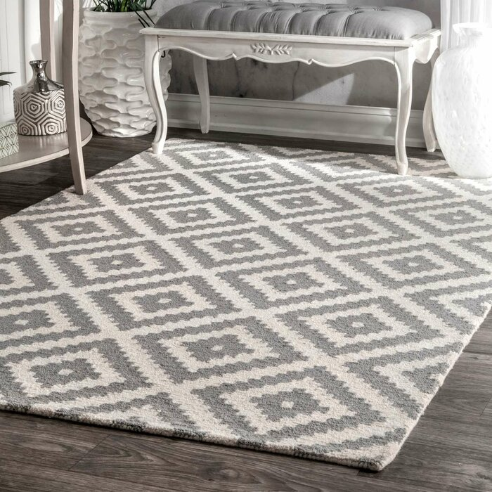 mercury row obadiah grey area rug & reviews | wayfair.ca