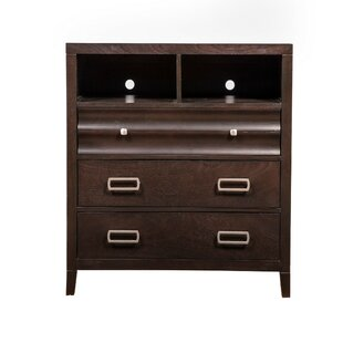 Brayden Studio Betterton Wooden TV 3 Drawer Media Chest Image