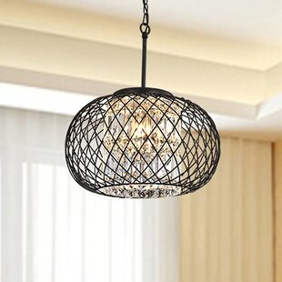 House of Hampton Mcmanis 3-Light Globe Chandelier