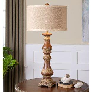 Richwood Montoro Dark Pecan 34 Table Lamp