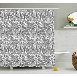 Price comparison Grove Digital Persian Leaf Shower Curtain By Winston Porter