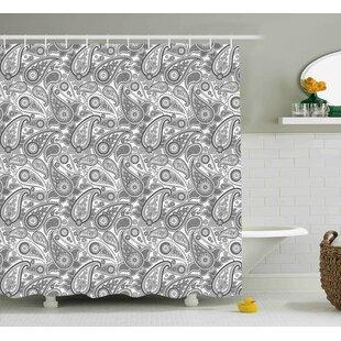 Grove Digital Persian Leaf Single Shower Curtain by Winston Porter Best Design