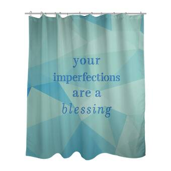 East Urban Home Hard Work Inspirational Quote Shower Curtain Set Wayfair