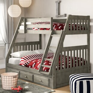Buy clear Willis Twin over Full Bunk Bed with Drawers by Birch Lane™ Heritage Reviews (2019) & Buyer's Guide
