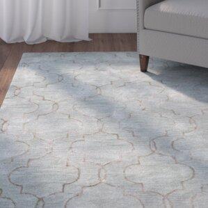 hillsdale handtufted light blue area rug