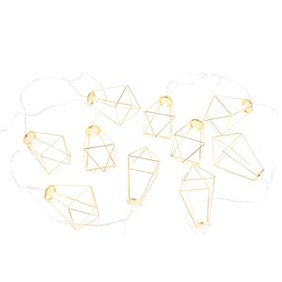 Wolk Max Faceted Metal Cage LED 10-Light Novelty String Light