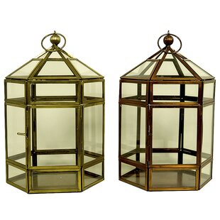Compare prices Classic Lantern (Set of 2) By August Grove