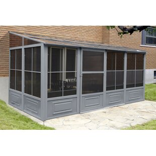 16 Ft. W x 8 Ft. D Metal Wall Mounted Patio Gazebo by Gazebo Penguin