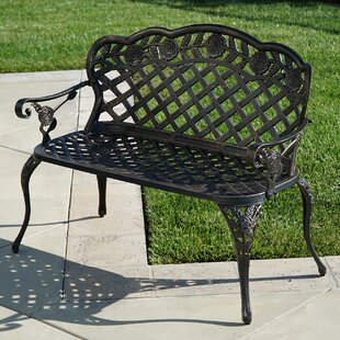 Ophelia & Co. Newfield Outdoor Metal Garden Bench