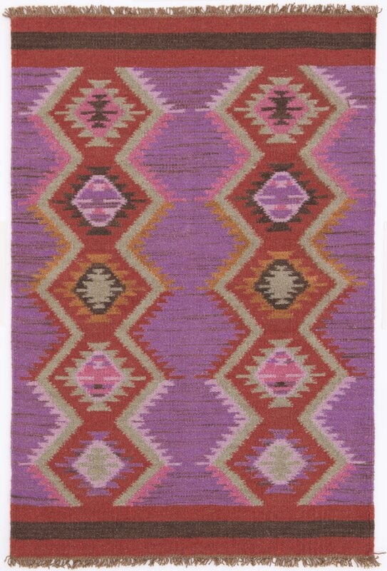Beautiful Hand Woven Purple/Red Area Rug. By Dash And Albert Rugs