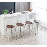 Metcalfe Solid Wood Bar & Counter Stool (Set of 4) by Williston Forge