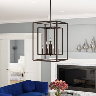 Willa Arlo Interiors Eglantina 9-Light Square/Rectangle Chandelier