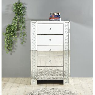 Lasater Crystal 5 Drawer Chest