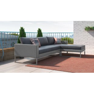 Tropez Patio Sectional with Cushions by Elle Decor