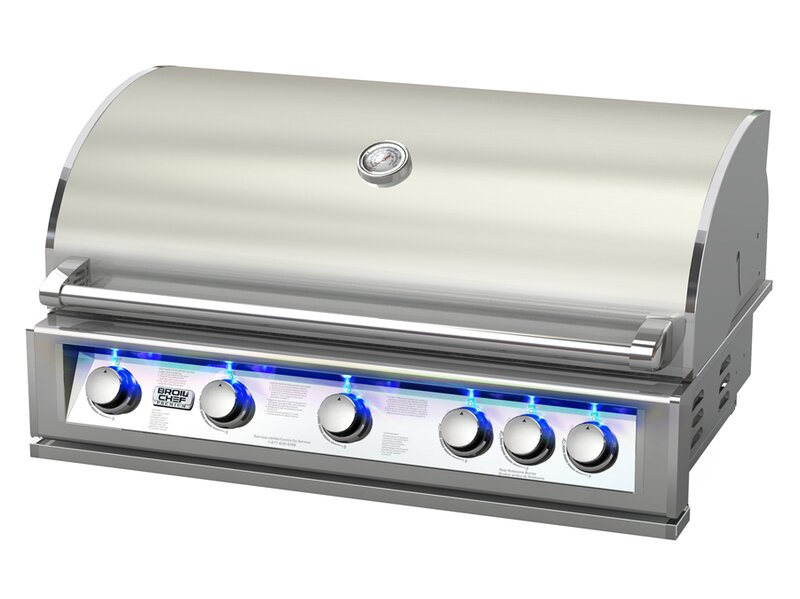 BroilChef 5-Burner Built-In Propane Gas Grill & Reviews ...