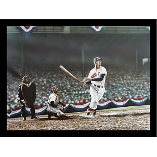 'Ted Williams Swing' Print Poster by Darryl Vlasak Framed Memorabilia by Buy Art For Less