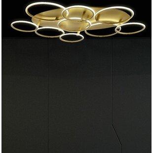 Brayden Studio Starkes 1-Light LED Flush Mount