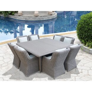 Brokaw 9 Piece Dining Set with Cushions