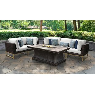 Barcelona Outdoor 6 Piece Sectional Seating Group with Cushions