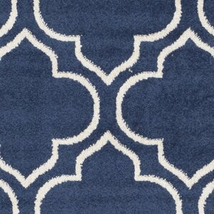 Maritza Navy / Ivory Indoor/Outdoor Area Rug