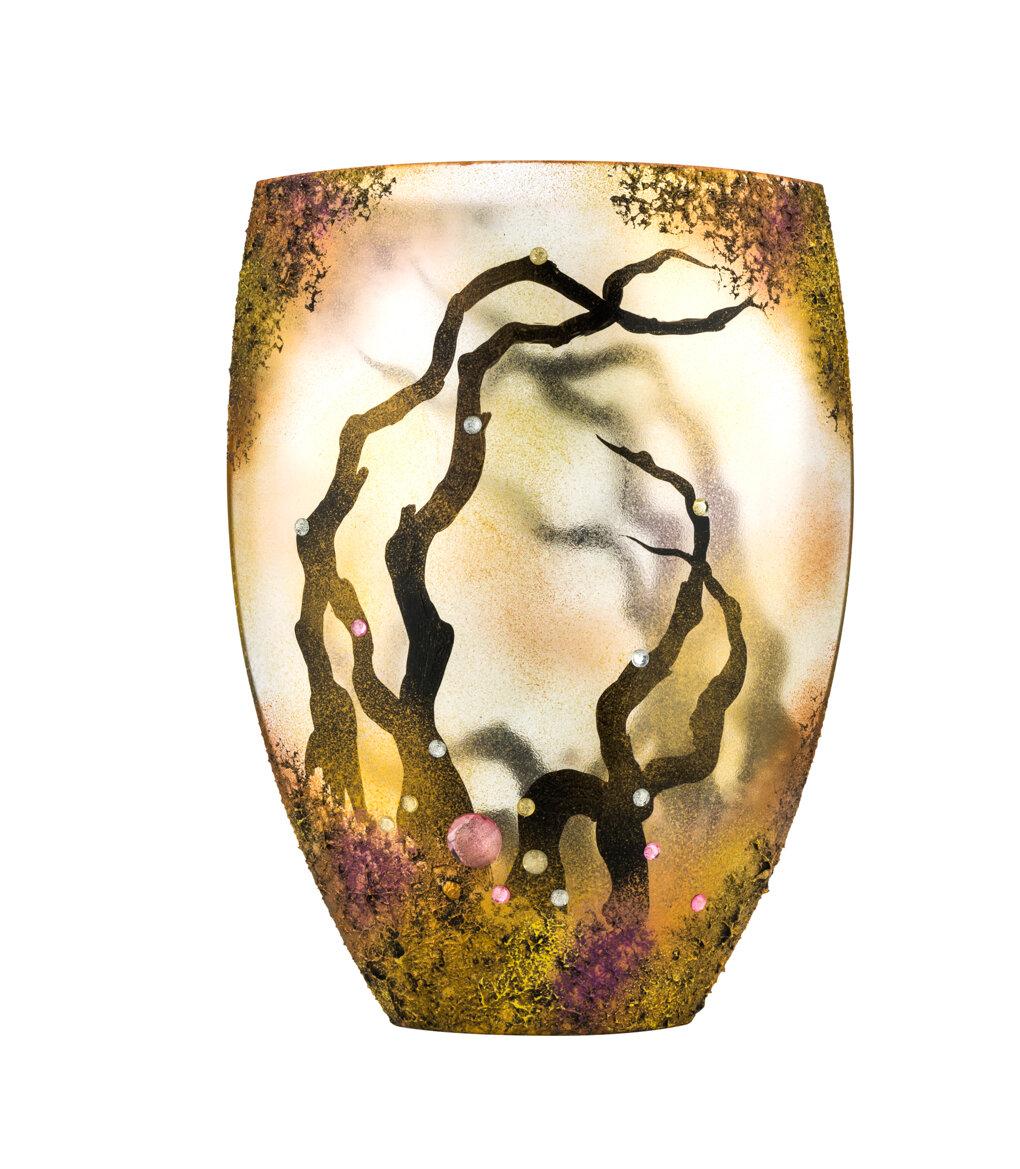Bloomsbury Market Wampole Gold 11 22 Indoor Outdoor Glass Table Vase Wayfair