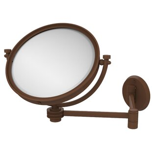 Allied Brass Extend 4X Magnification Wall Mirror with Dotted Detail