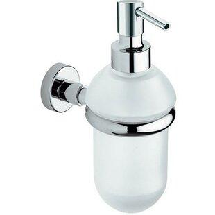 Orren Ellis Snelson Wall Mounted Glass Pump Soap & Lotion Dispenser