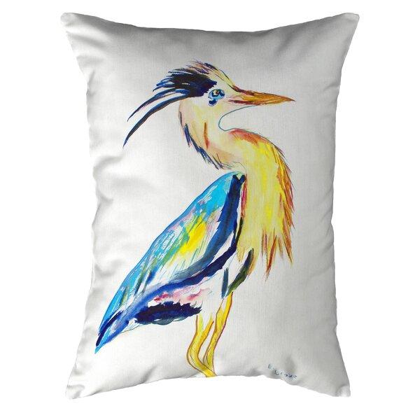 Highland Dunes Simental Vertical Heron Indoor Outdoor Lumbar Pillow Wayfair
