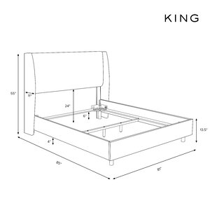 Upholstery King Size Bed