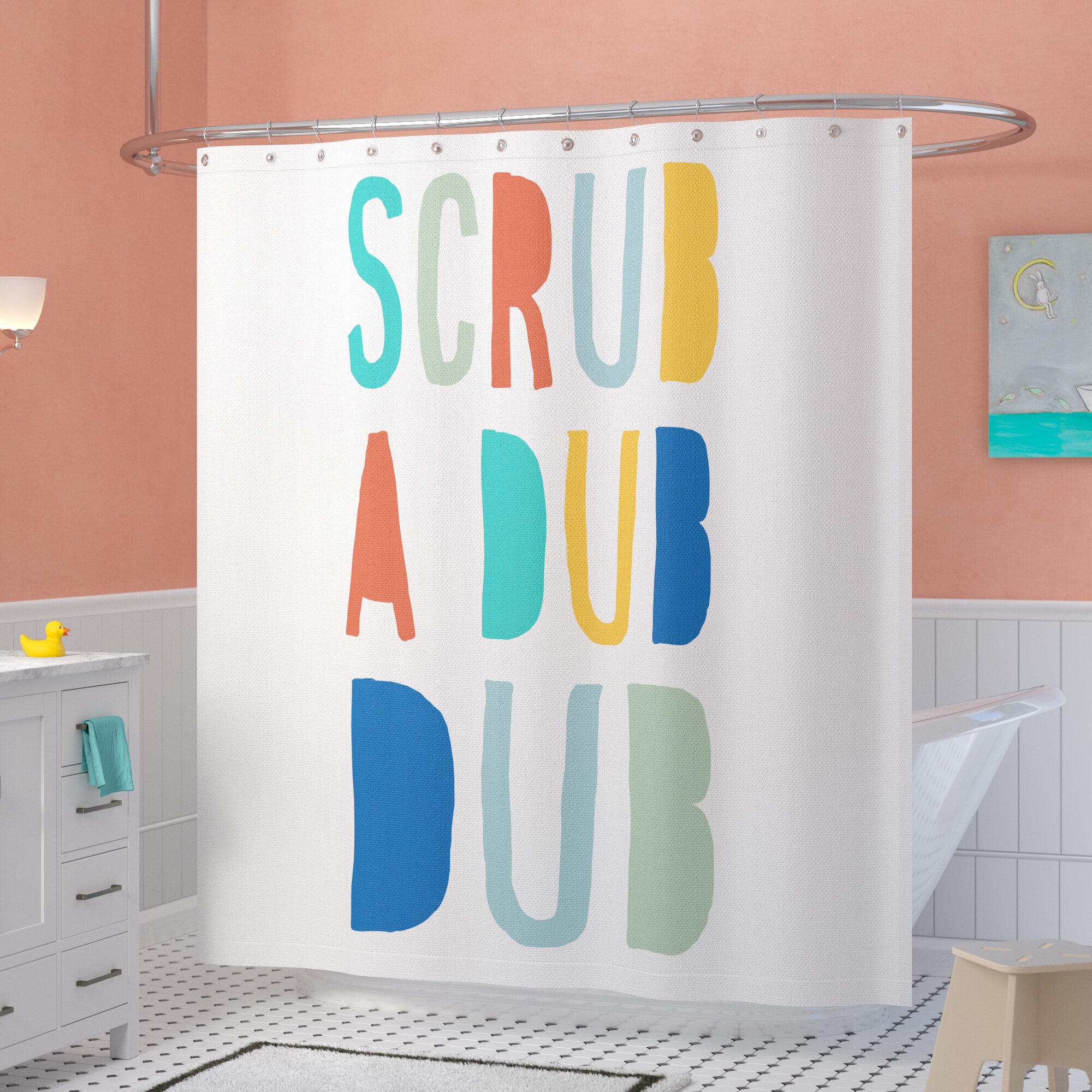 Mack Milo Nikesia Scrub A Dub Single Shower Curtain Reviews Wayfair