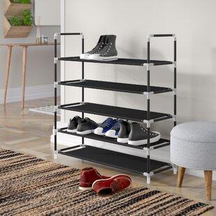 5 Compartment Shoe Rack By Rebrilliant