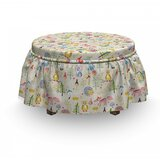 Cartoon Animals Tree Ottoman Slipcover (Set of 2) by East Urban Home