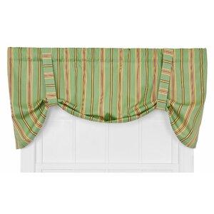 Englewood Medium Scale Stripe Tie-Up Curtain Valance
