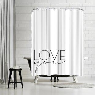 Explicit Design Love You Single Shower Curtain