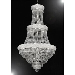 Montana 21-Light Crystal Chandelier