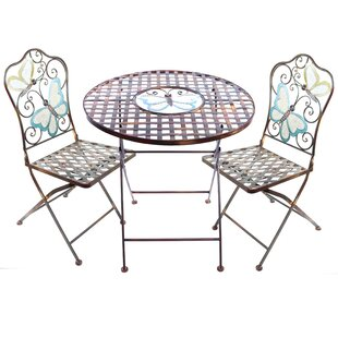 August Grove Sonia 3 Piece Butterfly Bistro Set