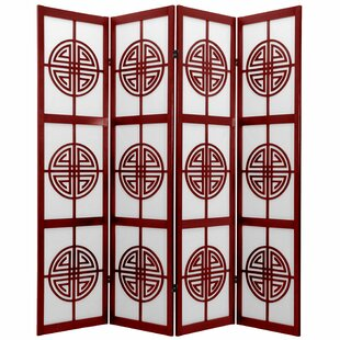 Courtney Shoji 4 Panel Room Divider by World Menagerie