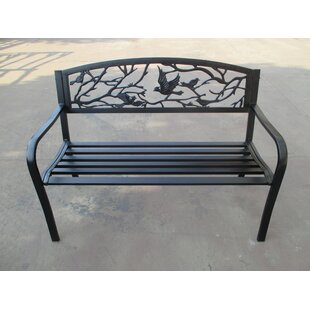 Sharma Birds and Branches Metal Garden Bench by August Grove