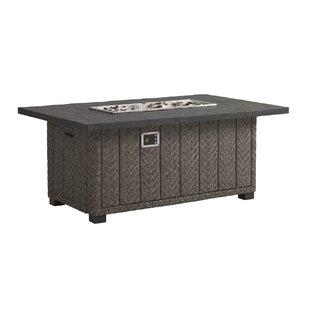 Blue Olive Aluminum Propane Fire Pit Table