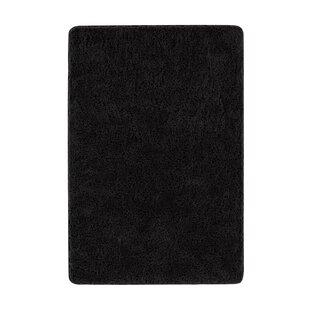 Find a Glendo Fuzzy Black Area Rug ByEbern Designs