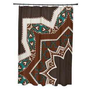 Soluri Rising Star Print Single Shower Curtain