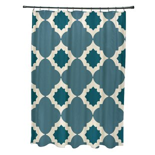 Nikhil Geometric Print Single Shower Curtain