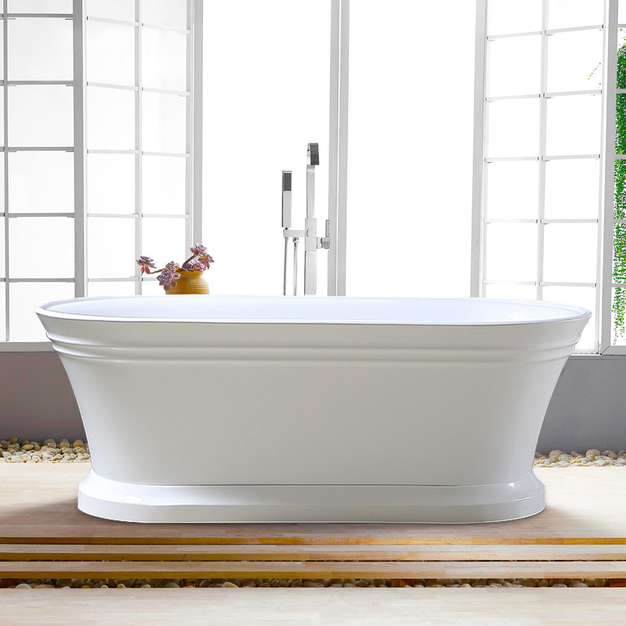 Vanity Art 67 X 31 Pedestal Soaking Bathtub Reviews Wayfair