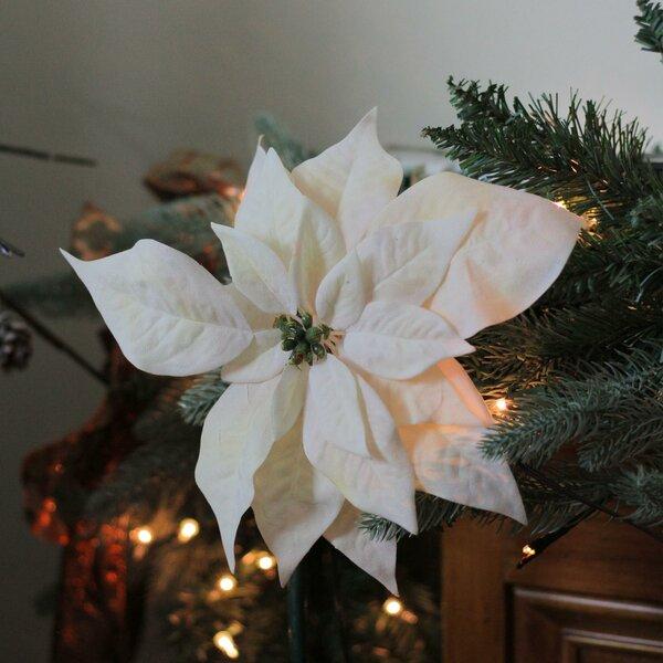The Holiday Aisle Christmas Artificial Poinsettia Hanging Figurine | Wayfair