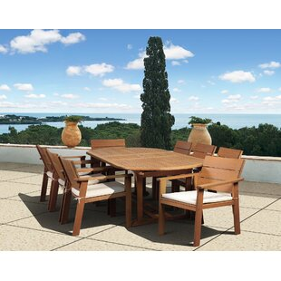 Beachcrest Home Gaeta 9 Piece Dining Set with Cushions