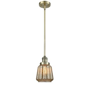 Latitude Run Vinson 1-Light Bell Pendant