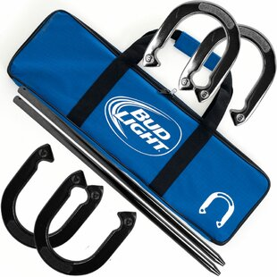 Bud Light Horseshoe Set with Carry Case by Trademark Games