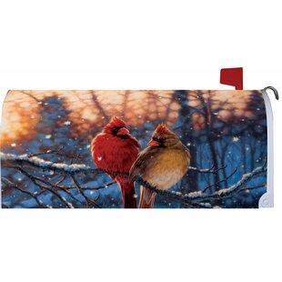 Winter Reds Mailbox Cover By Custom Decor