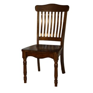 Amos Bent Spindle Back Solid Wood Dining Chair (Set of 2)