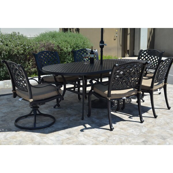 Darby Home Co Middleburgh 7 Piece Dining Set With Cushions Reviews Wayfair